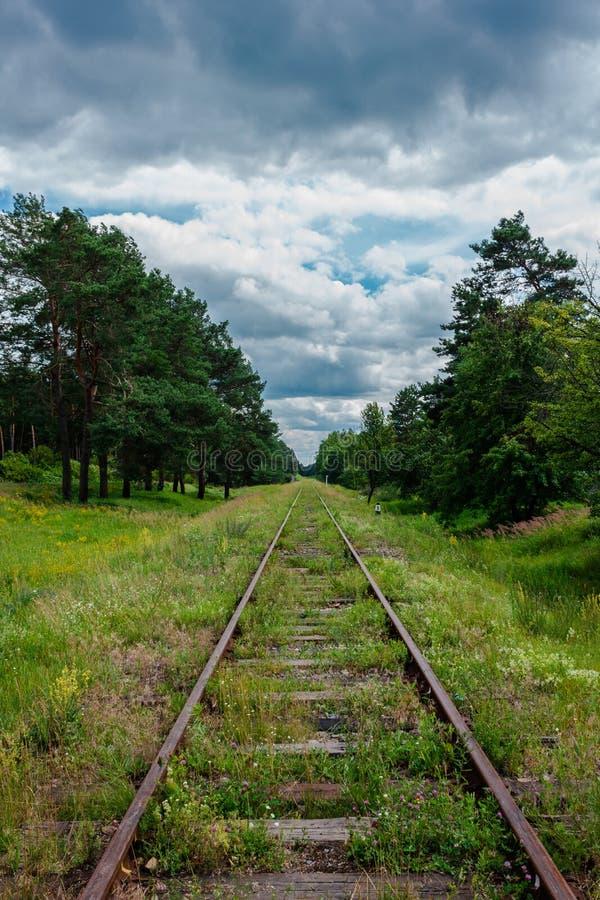 Oude spoorwegsporen royalty-vrije stock foto