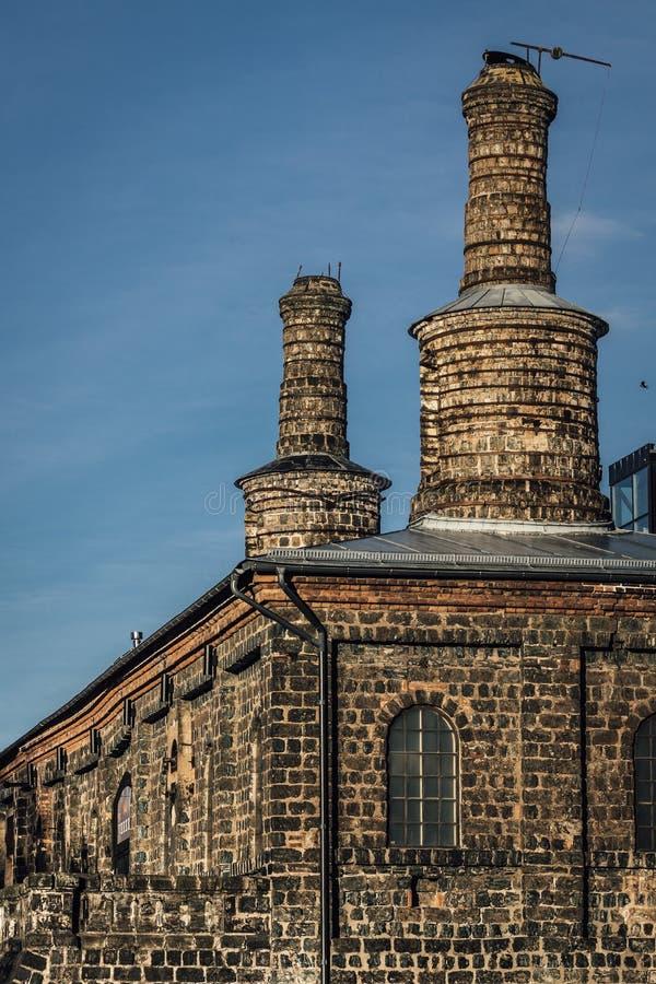 Oude staalfabrieken royalty-vrije stock afbeelding