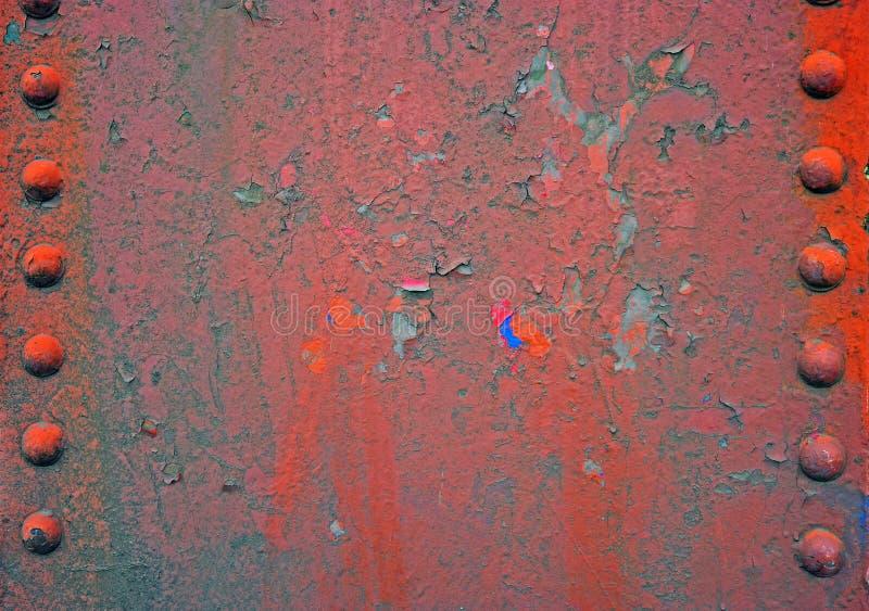 Oude staalstraal met klinknagels stock foto