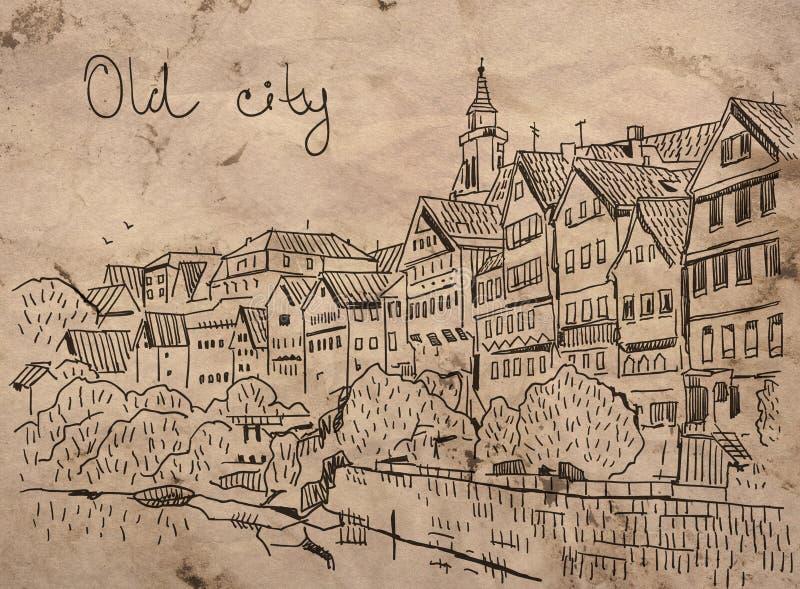 Oude Stad vector illustratie