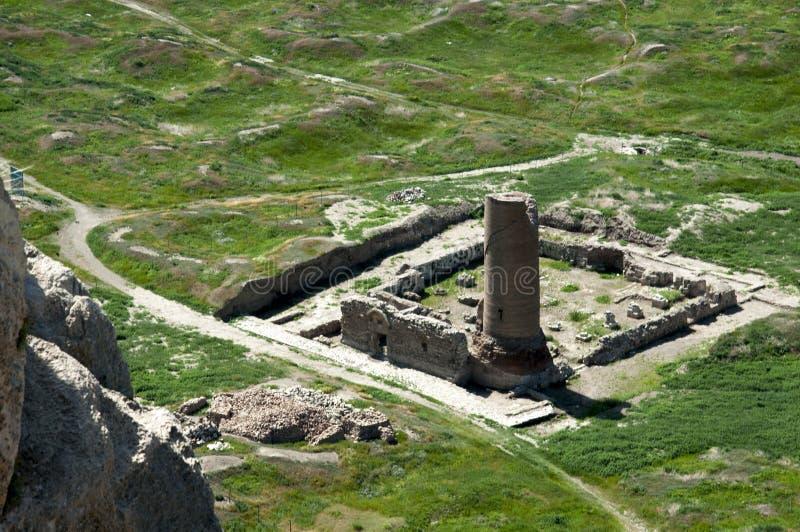 Oude stad, archeologische uitgravingen in de vallei van Bestelwagen stock fotografie