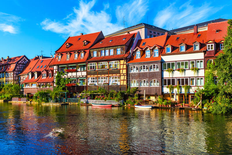 Oude Stad in Bamberg, Duitsland stock foto