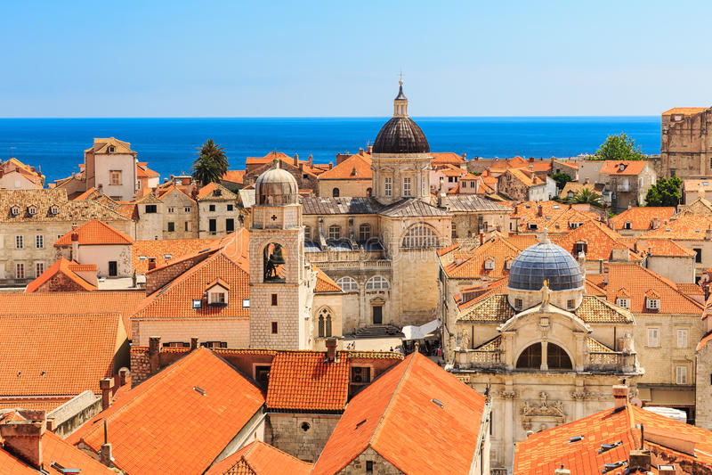 Oude stad Dubrovnik, Kroatië stock foto's