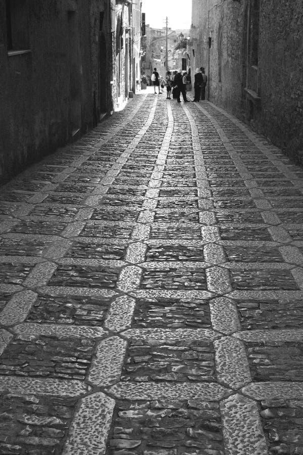 Oude stad Eriche in Sicilië royalty-vrije stock foto