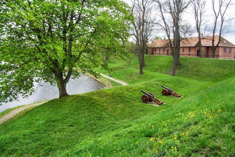 Oude Stad Gamlebyen Fredrikstad, Noorwegen royalty-vrije stock afbeelding