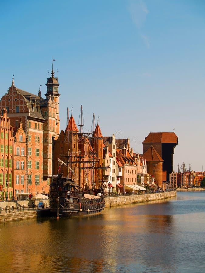 Oude stad, Gdansk, Polen stock foto's