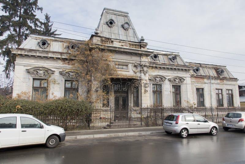 Oude stad gebouw-Ploiesti royalty-vrije stock foto's