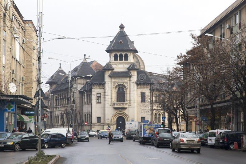 Oude stad gebouw-Ploiesti royalty-vrije stock fotografie