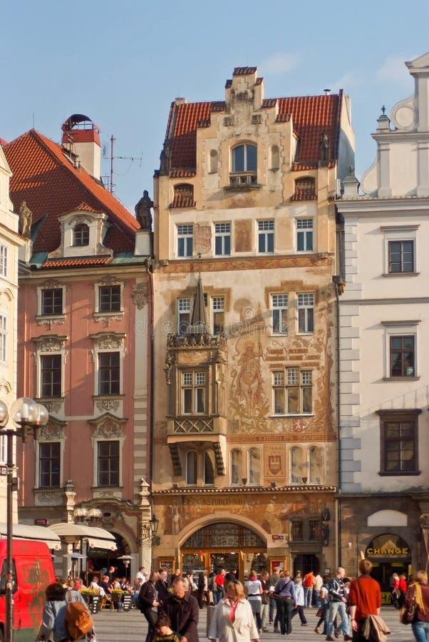 Oude Stad Het landschap van de stad Praag, Tsjechische Republiek stock fotografie