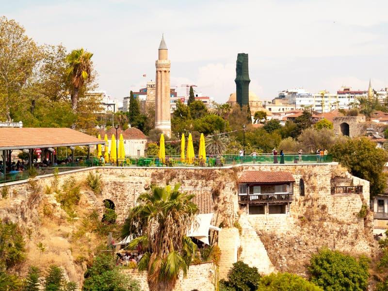 Oude stad Kaleici in Antalya, Turkije royalty-vrije stock foto