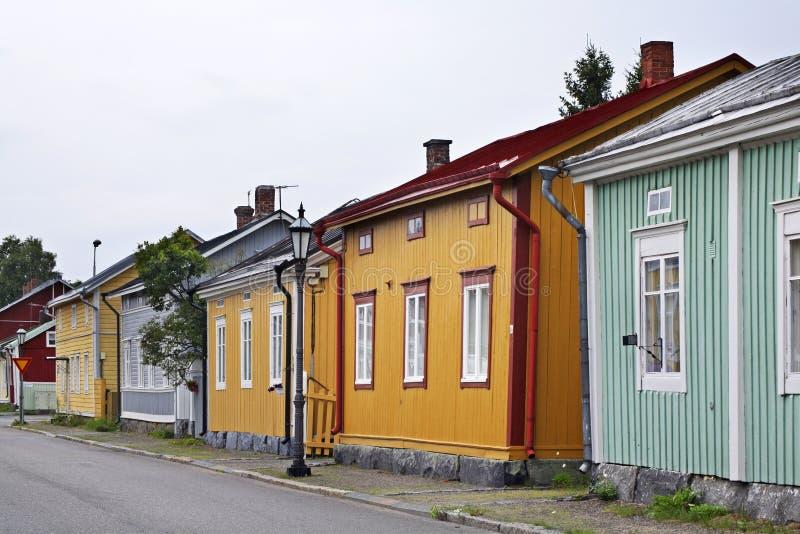Oude stad in Kokkola finland stock fotografie