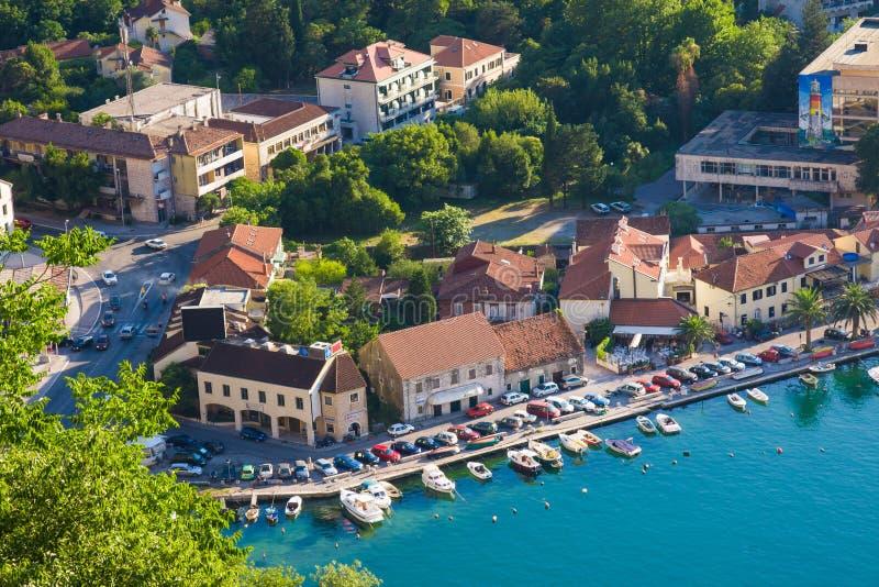 Oude stad in Kotor montenegro stock fotografie