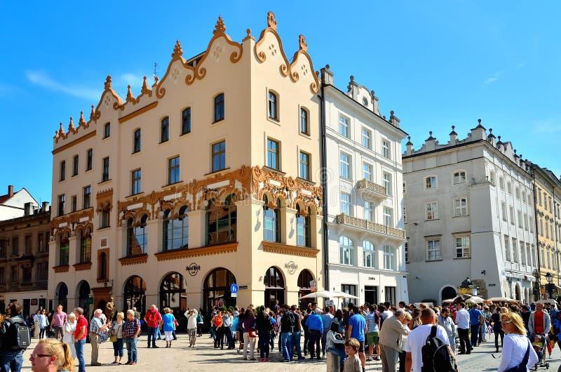 Oude stad in Krakau, Polen stock afbeelding
