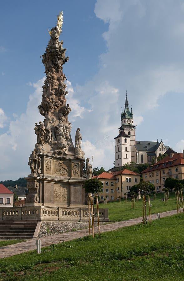 Oude stad Kremnica, Slowakije royalty-vrije stock foto