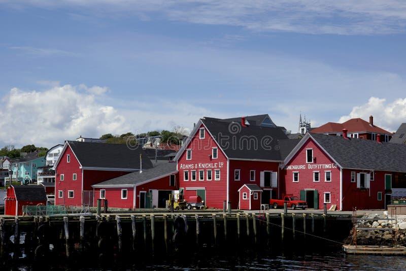 Oude Stad Lunenburg - Nova Scotia, Juli 2013 royalty-vrije stock afbeelding