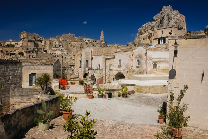 Oude Stad Matera Basilicata Apulia of Puglia Italië royalty-vrije stock foto