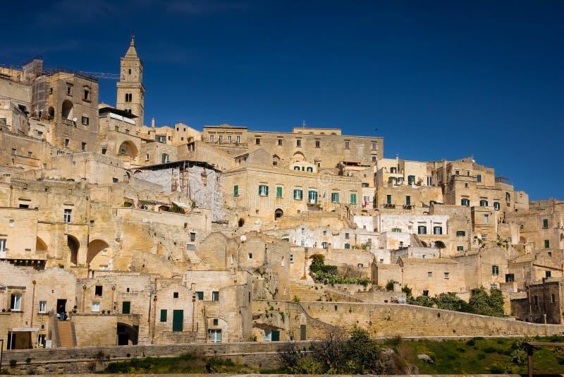 Oude Stad Matera Basilicata Apulia of Puglia Italië stock afbeeldingen
