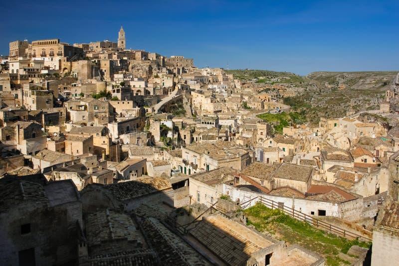 Oude Stad Matera Basilicata Apulia of Puglia Italië stock foto