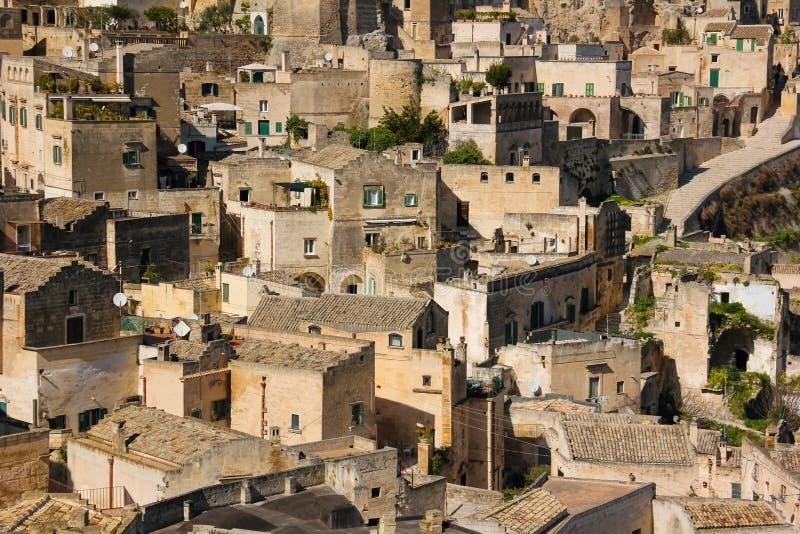 Oude Stad Matera Basilicata Apulia of Puglia Italië royalty-vrije stock afbeelding