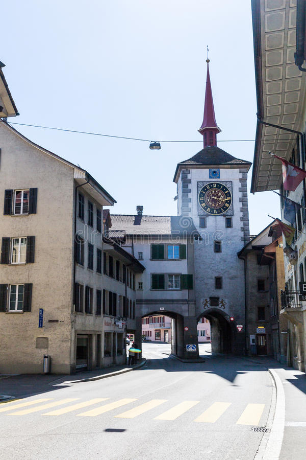 Oude stad Mellingen in Zwitserland royalty-vrije stock foto