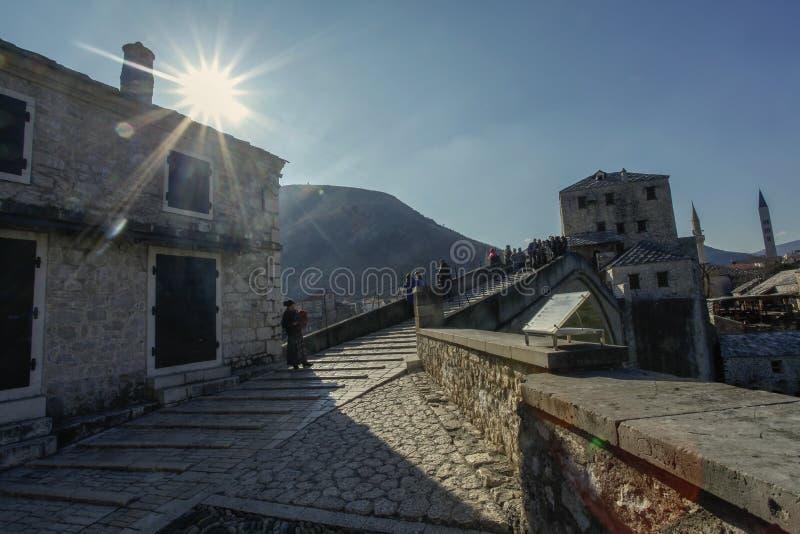 Oude stad Mostar royalty-vrije stock afbeeldingen