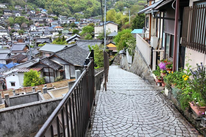 Oude Stad Onomichi stock foto