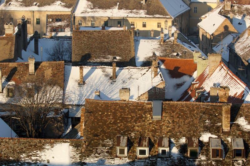 Oude Stad petrovaradin stock foto's