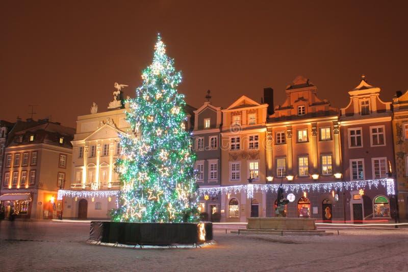 Oude stad in Poznan, Polen stock foto