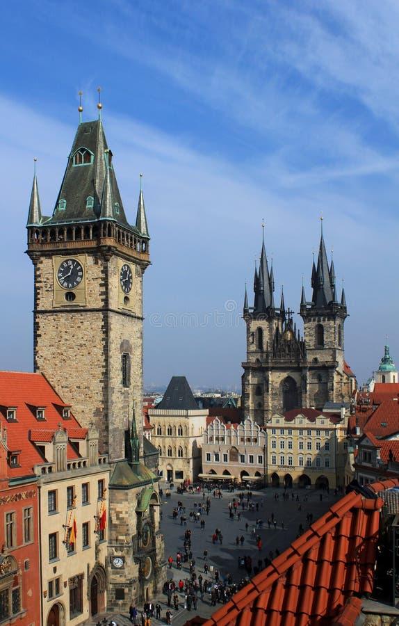 Oude stad, Praag royalty-vrije stock afbeeldingen