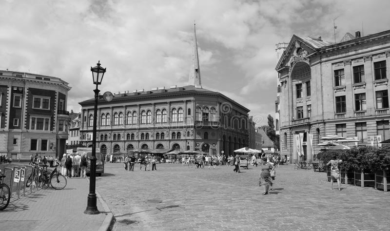 Oude stad Riga stock foto