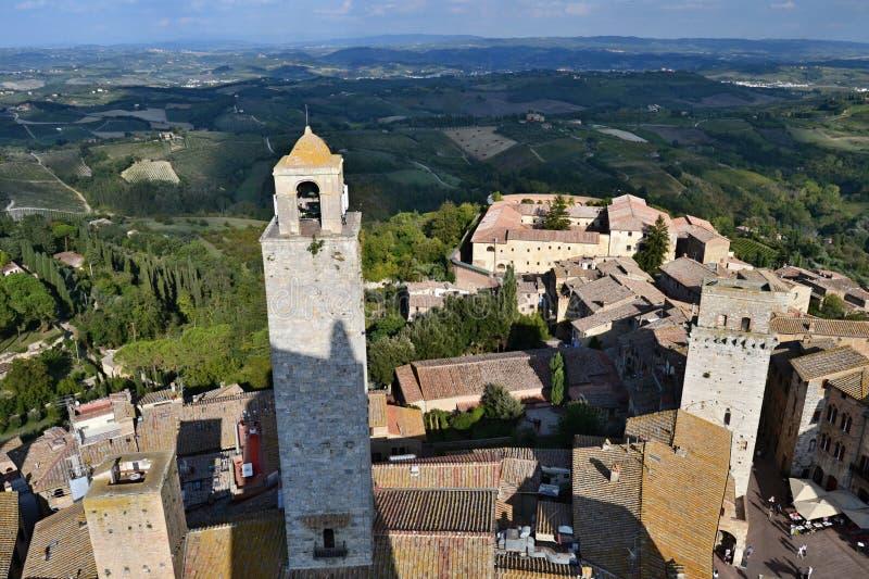 Oude stad San Gimignano, Italië royalty-vrije stock afbeelding