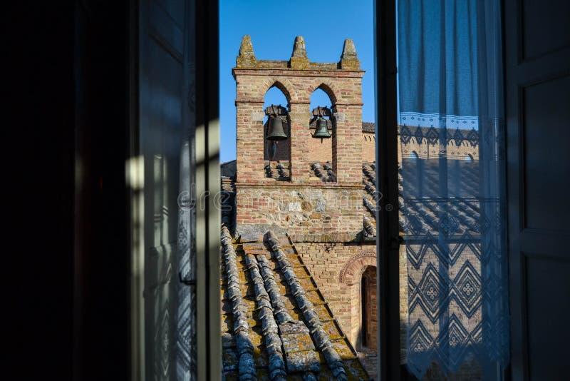 Oude stad San Gimignano, Italië stock fotografie