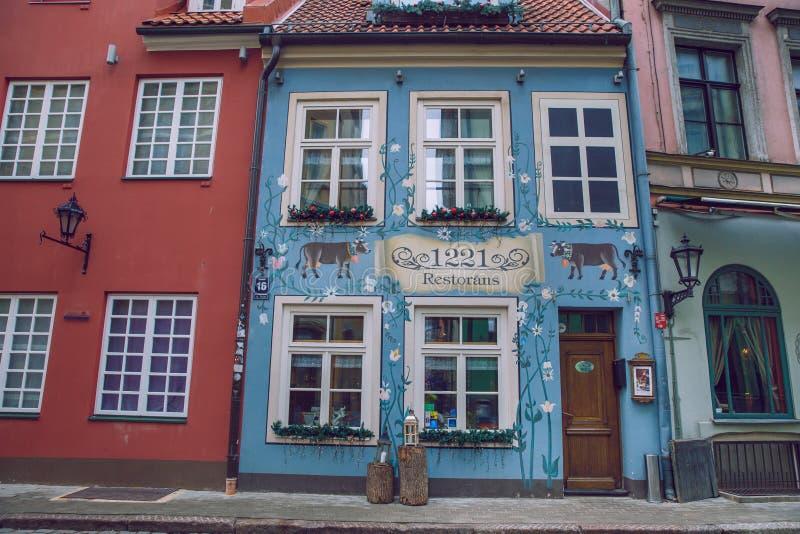 Oude stad, stadscentrum en architectuur Straten en aard Reisfoto 2019 stock fotografie