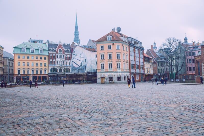 Oude stad, stadscentrum, volkeren en architectuur Straten en aard Reisfoto 2019 stock fotografie