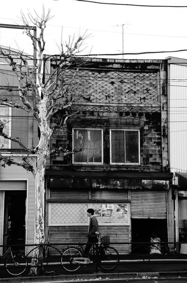 Oude stad in Tokyo royalty-vrije stock afbeeldingen