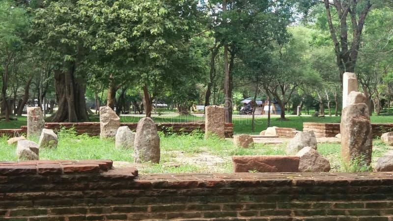 Oude stad van Anuradhapura royalty-vrije stock afbeeldingen