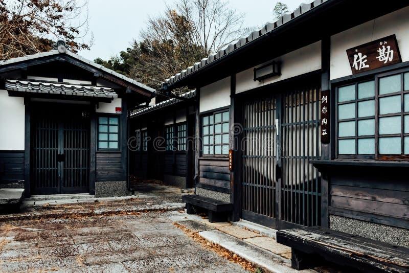 Oude stad van Arashiayama, Kyoto Japan royalty-vrije stock fotografie