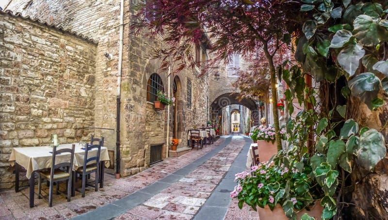 Oude stad van Assisi, Umbrië, Italië royalty-vrije stock afbeeldingen