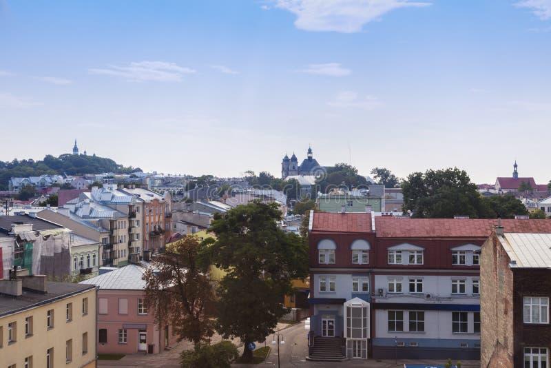 Oude stad van Chelm, Polen stock foto