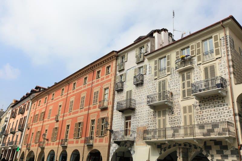 Oude stad van Cuneo royalty-vrije stock afbeeldingen