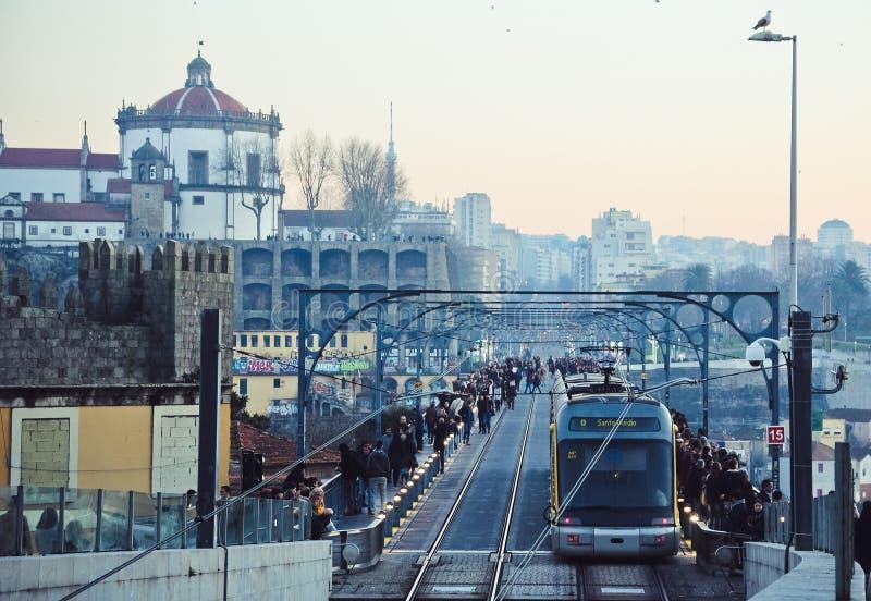 Oude stad van de avond in Porto royalty-vrije stock foto