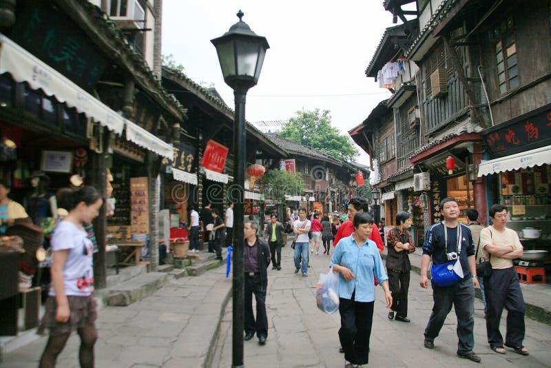 Oude stad van de magnetische mond van Chongqing stock afbeeldingen