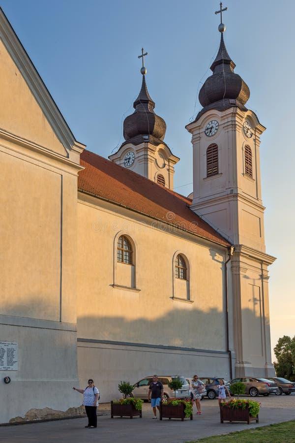 Oude stad van een beroemde Hongaarse stad Veszprem 25 08 2017 Hongarije stock foto's