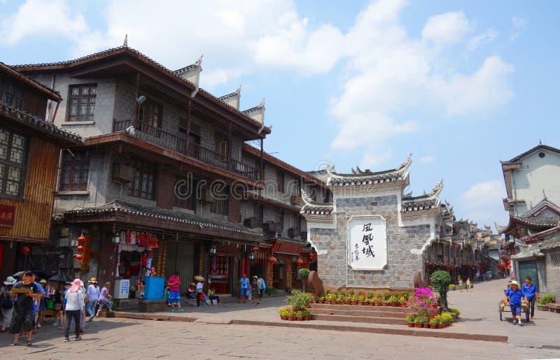 Oude stad van Fenghuang, de provincie van Hunan, China royalty-vrije stock fotografie