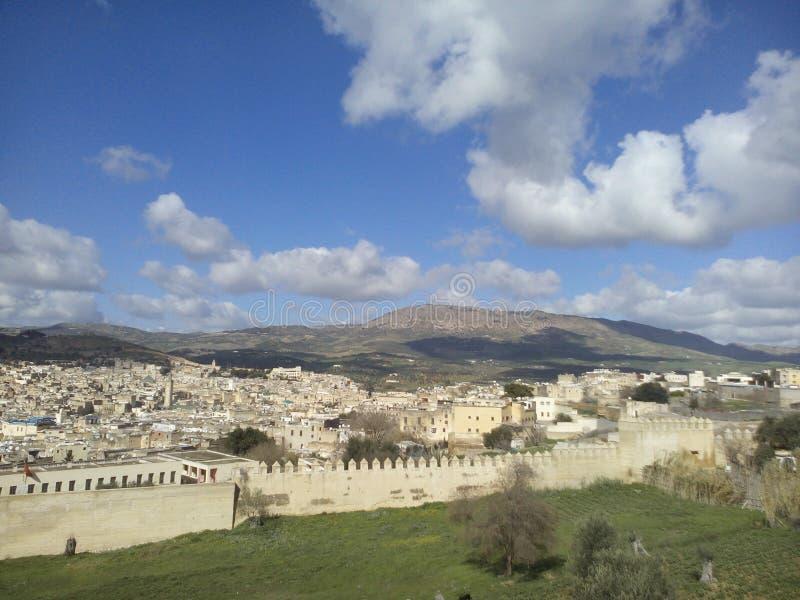Oude stad van Fes, Marokko royalty-vrije stock foto