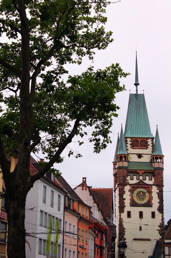Oude stad van freiburg in Duitsland stock foto's