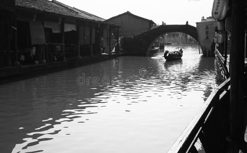 Oude stad van het zuiden van de Yangtze-Rivier royalty-vrije stock afbeelding