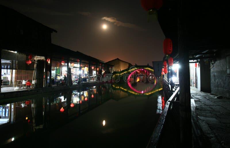 Oude stad van het zuiden van de Yangtze-Rivier stock afbeeldingen
