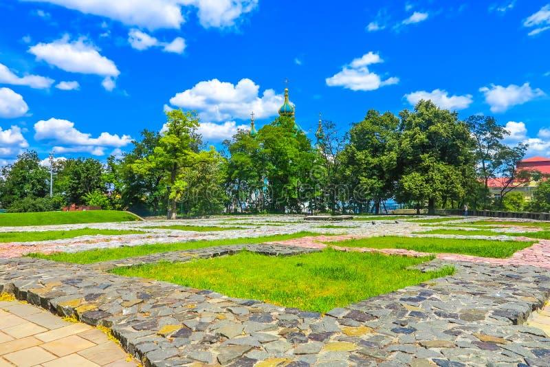 Oude Stad 08 van Kiev royalty-vrije stock afbeelding