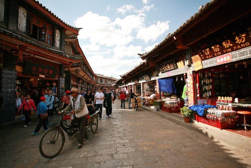 Oude Stad van Lijiang stock foto
